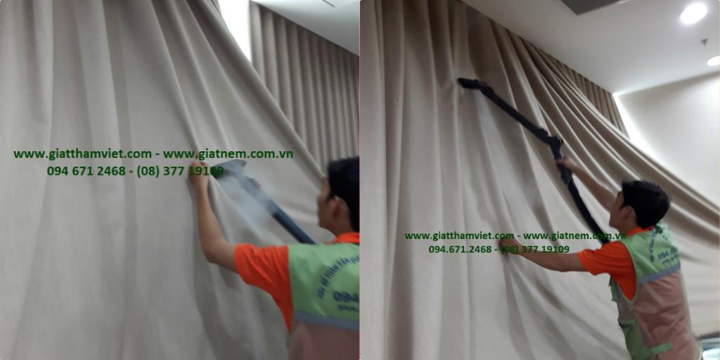 Giặt màn cửa bằng hơi nước nóng