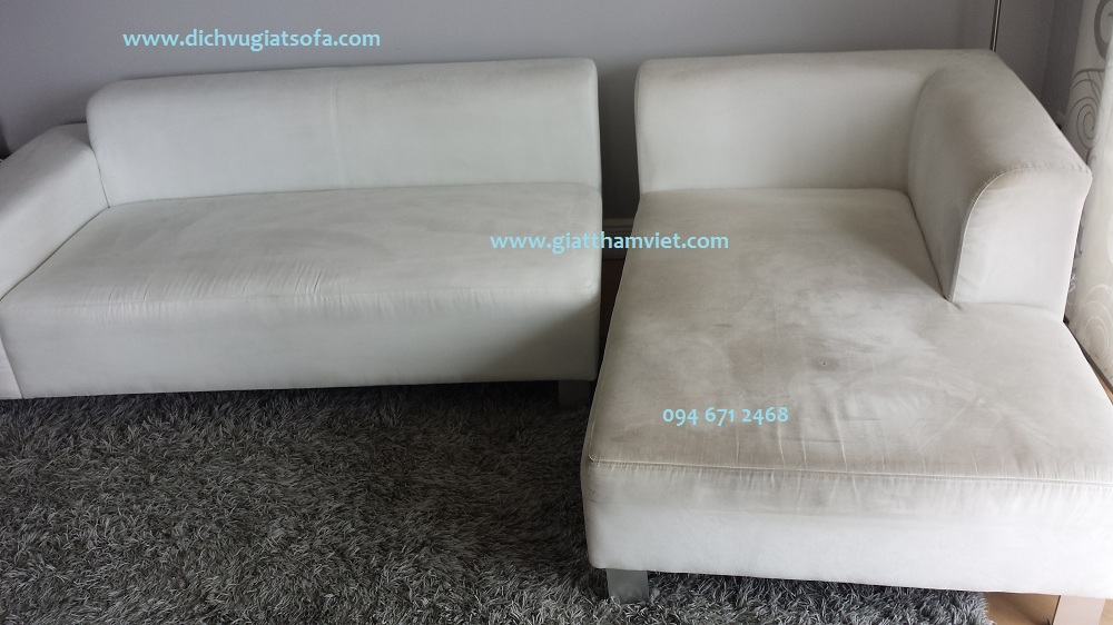 Cách giặt ghế sofa vải lanh