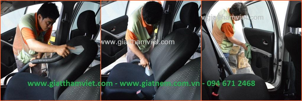 Dịch vụ vệ sinh nội thất xe hơi bằng nước nóng