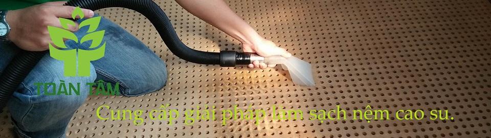 giải pháp làm sạch nệm cao su
