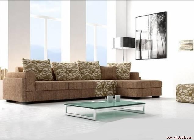 Mẹo hay làm sạch ghế sofa bọc vải thô hoặc nỉ