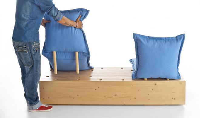 Biến tấu với ghế sofa